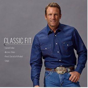 Wrangler Denim Long Sleeve Shirt